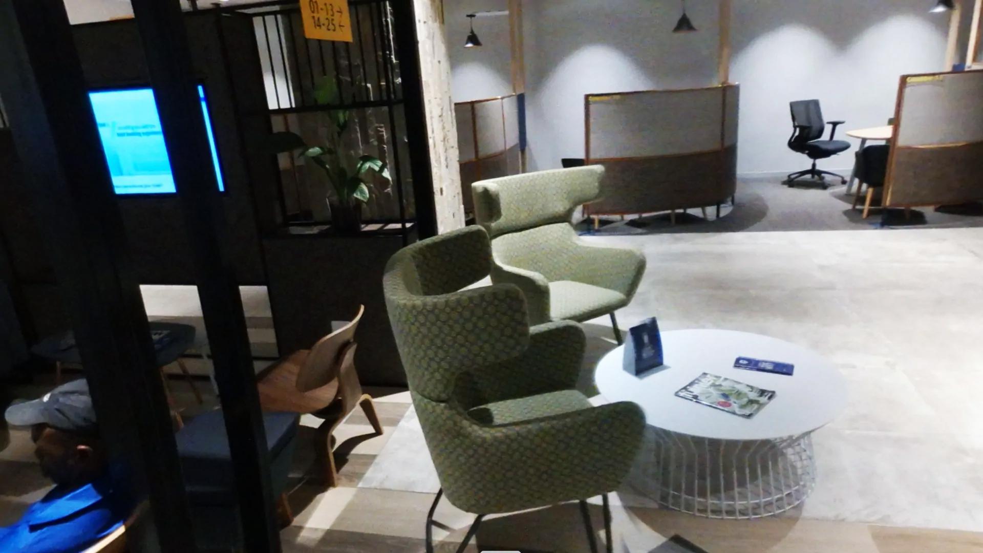 Furniture inside the Bank