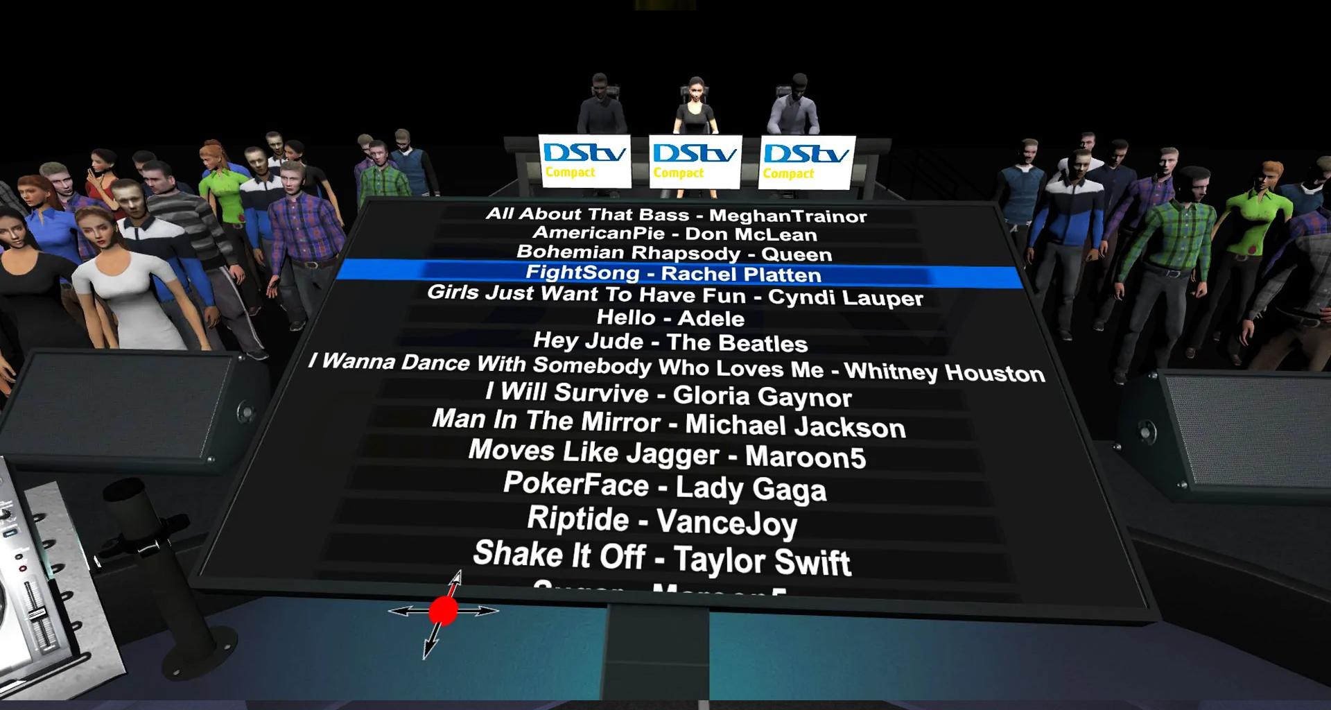 Virtual Reality Karaoke Song List