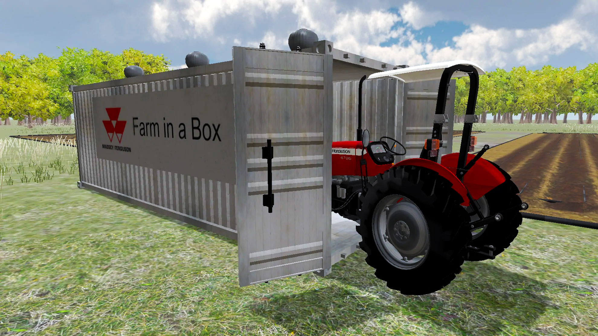 Virtual Reality 3D Model Massey Ferguson Tractor