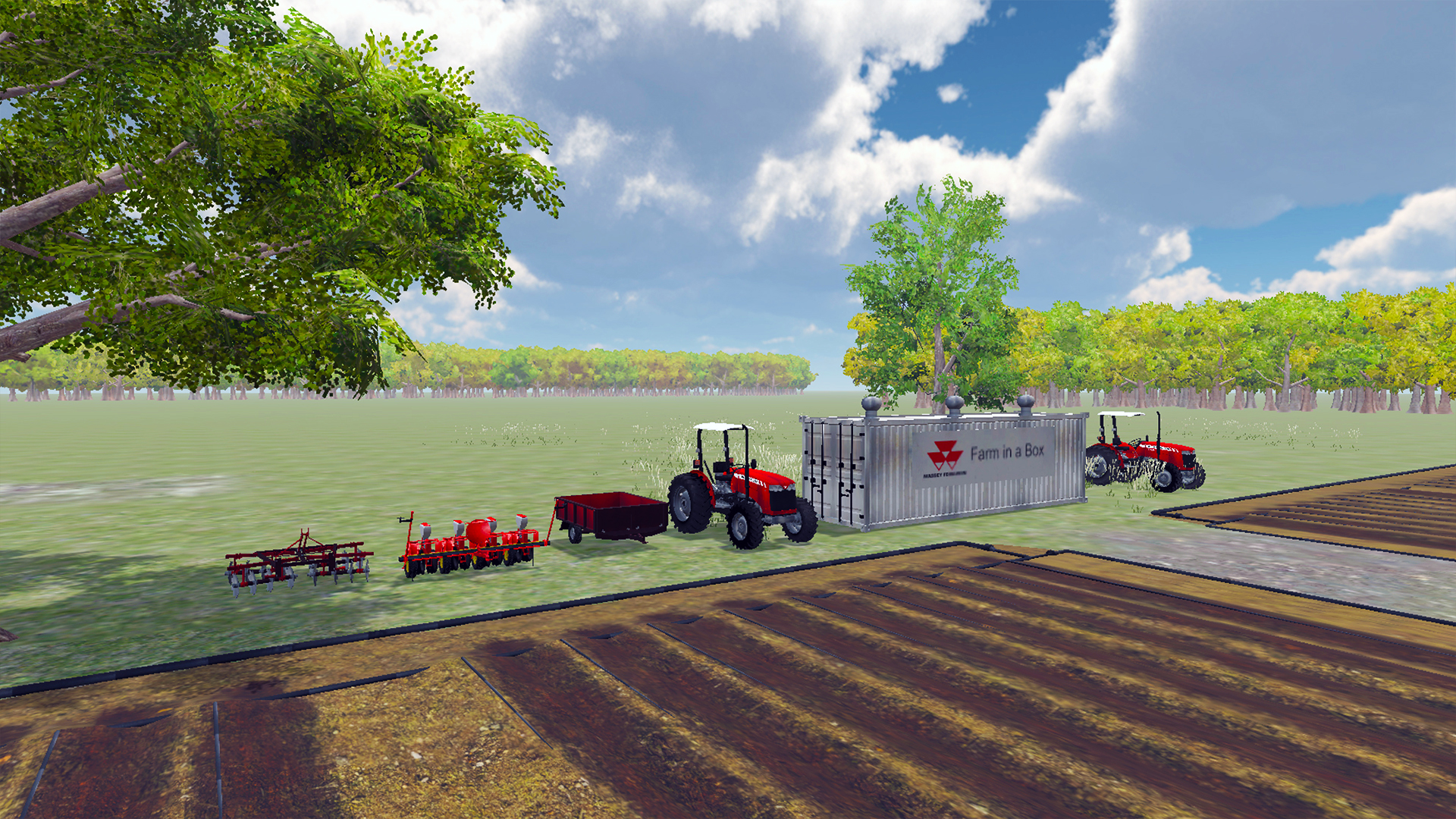 virtual reality application farm