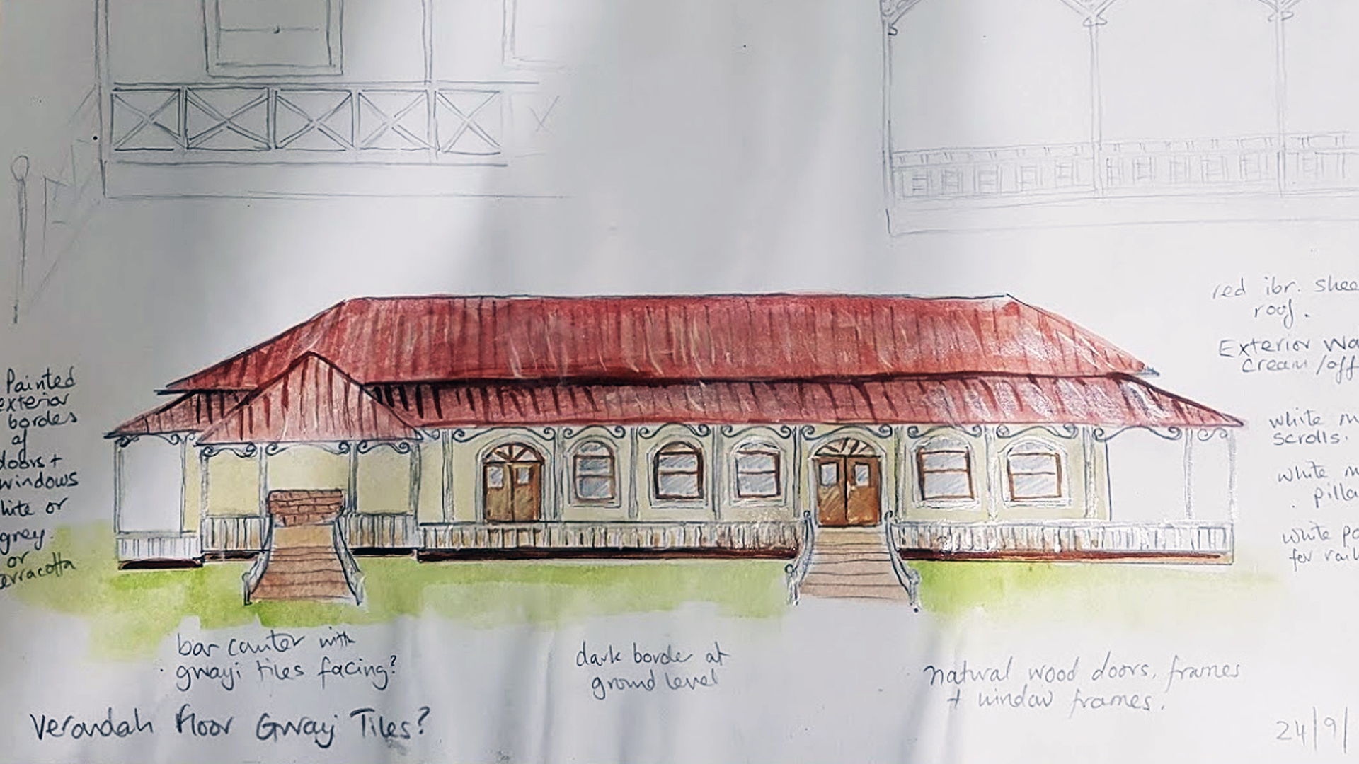 Hand Drawing of the Lodge