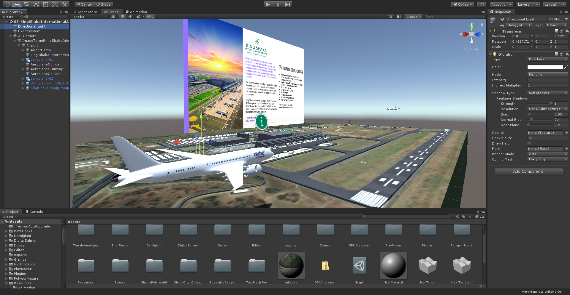 King Shaka International Airport Augmented Reality Application