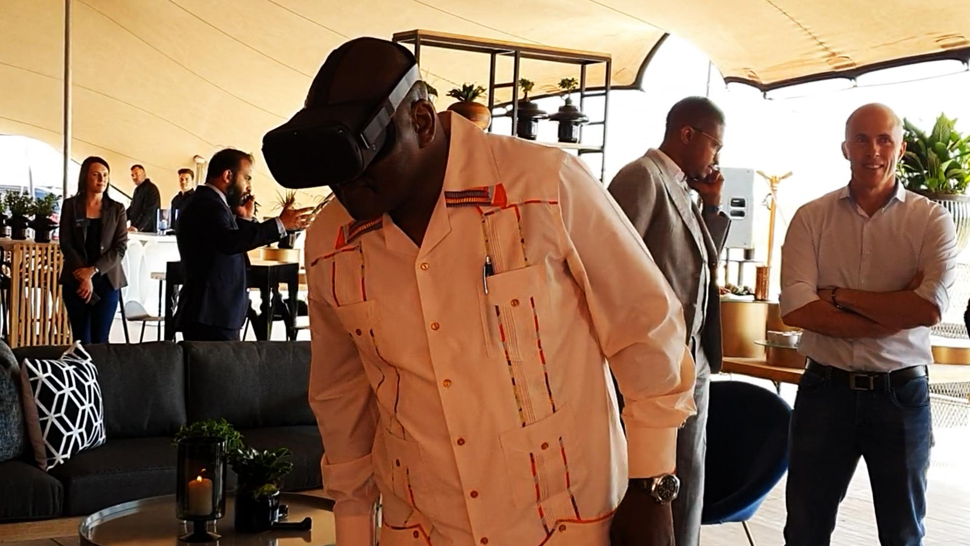 Premier of Gauteng David Makhura virtual reality