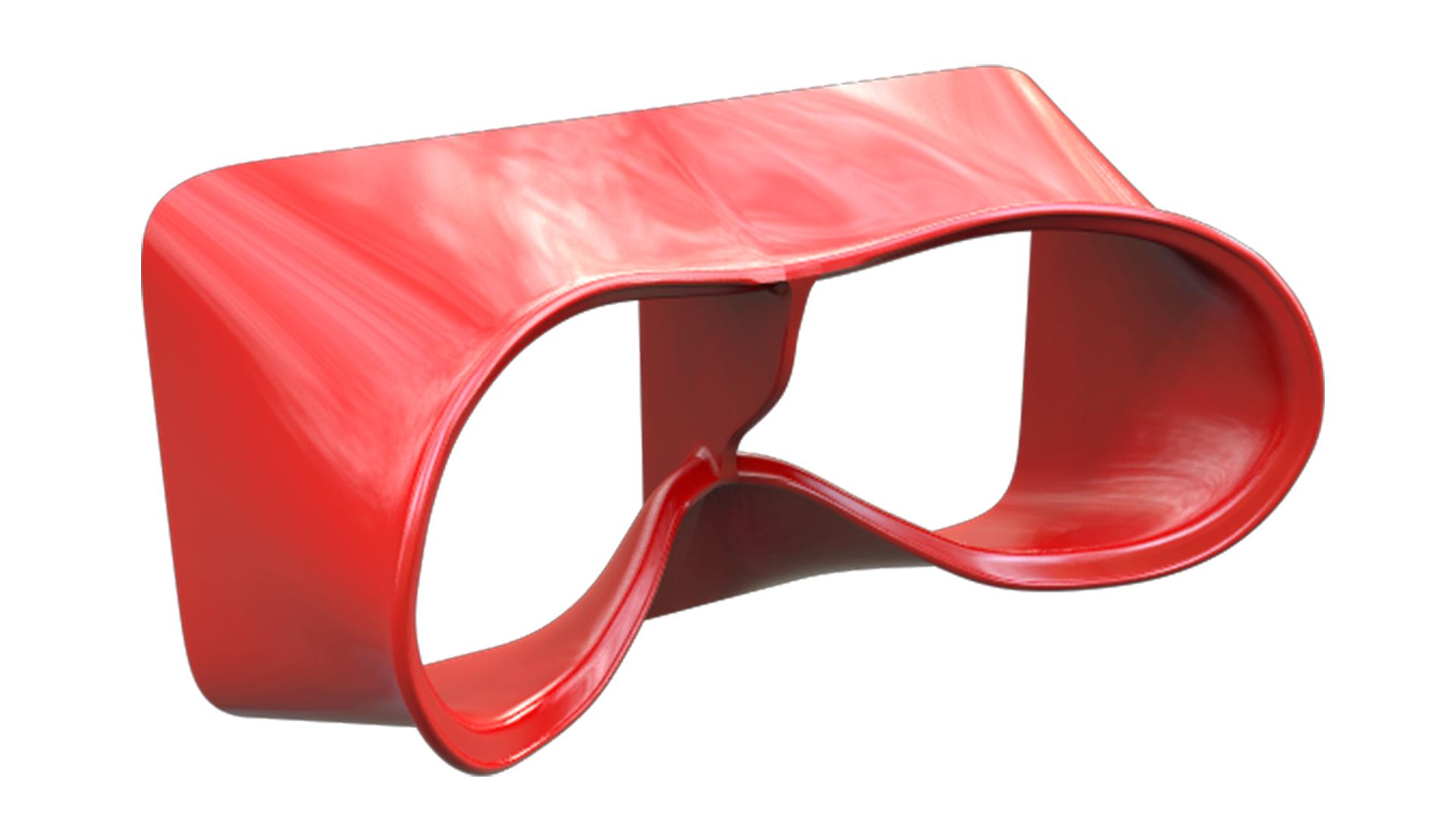 Plastic virtual reality glasses