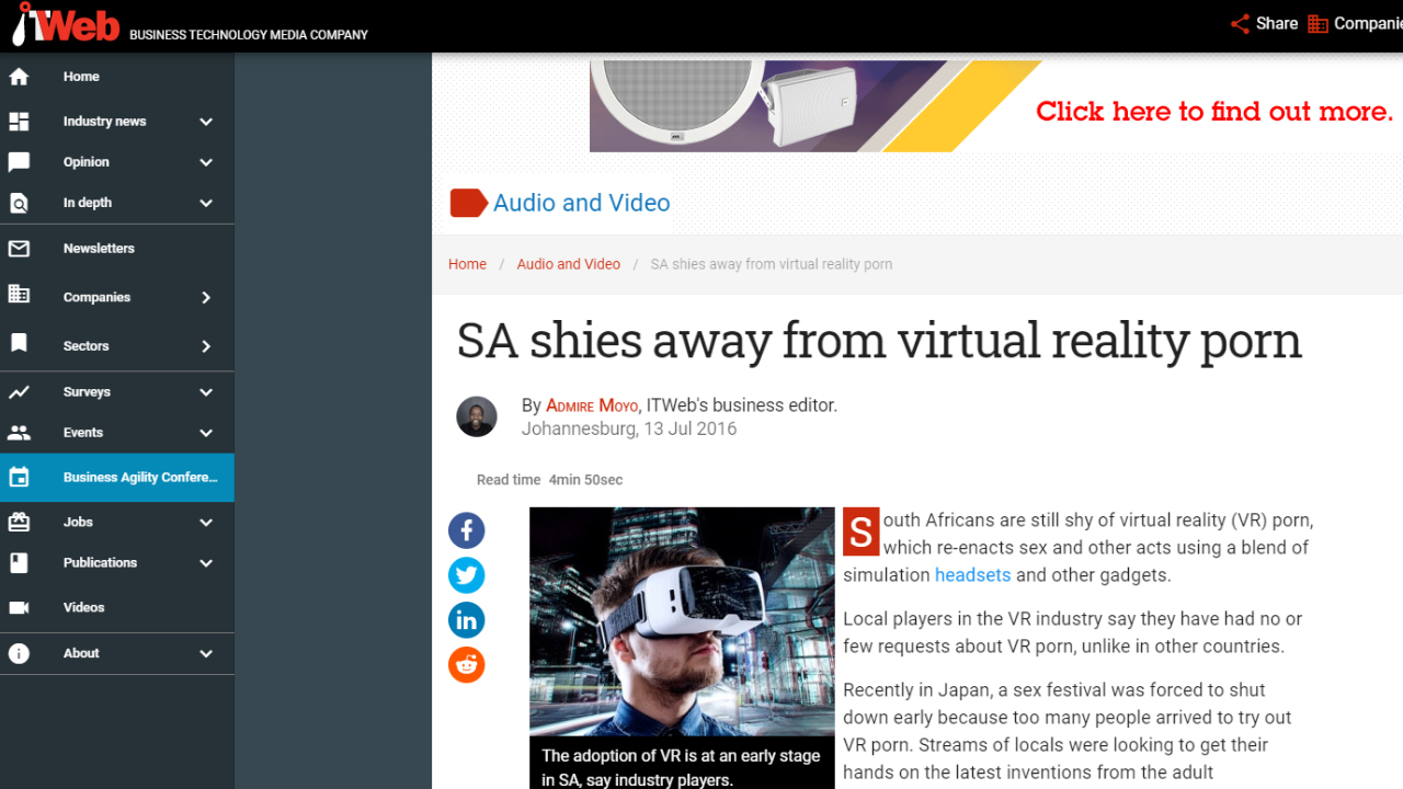 Virtual Reality in the Media