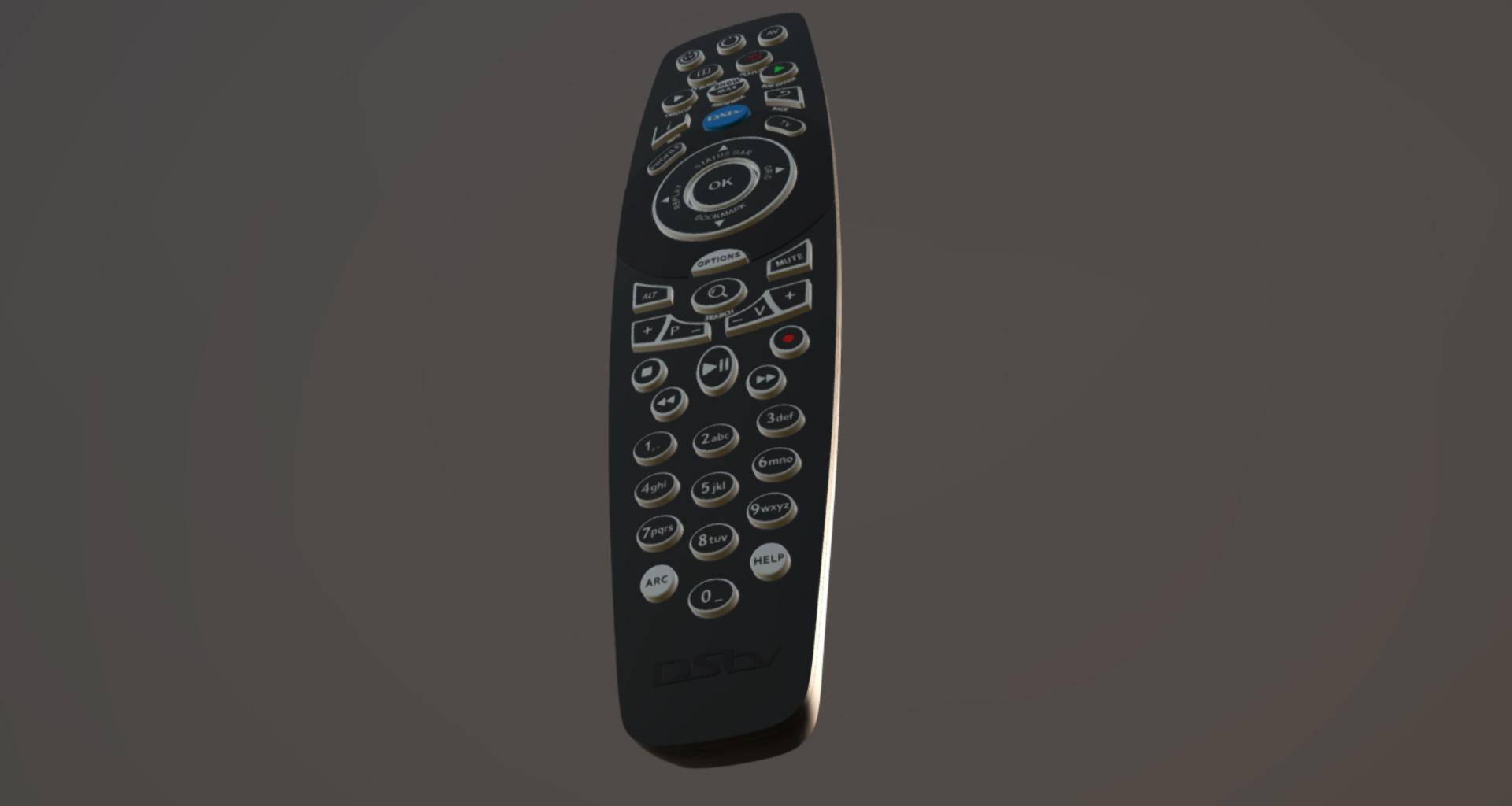 3D Model DSTV Television Remote