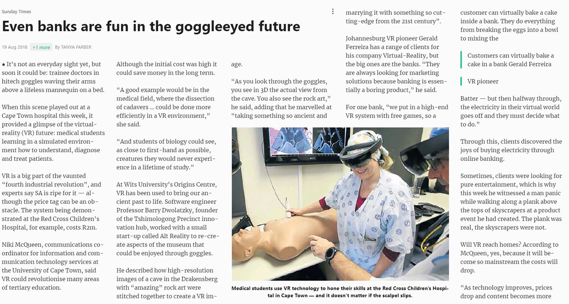 Sunday Times Virtual Reality
